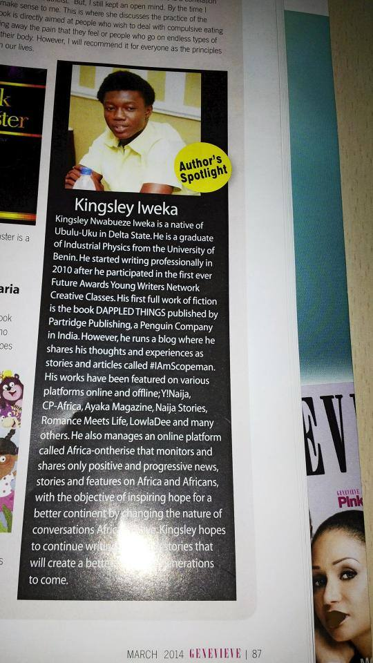 Genevieve Magazine Iweka Kingsley Feature